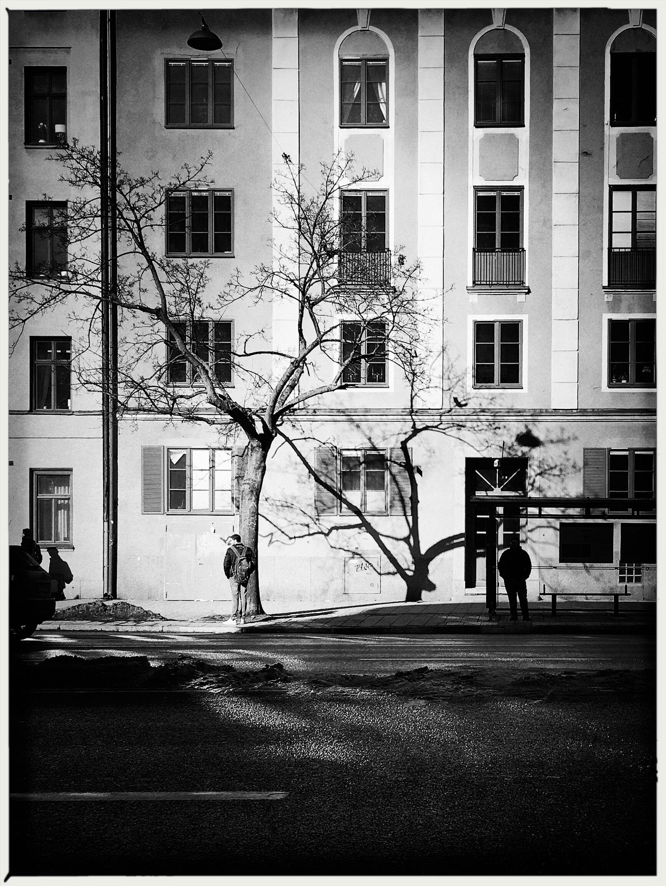 Visual Witness My Own Style Of Beauty Blackandwhite ShotoniPhone6s EyeEm Traveling Eyeem In Stockholm Hipstography Light And Shadow Shootermag Silhouette Architecture Outdoors Tree