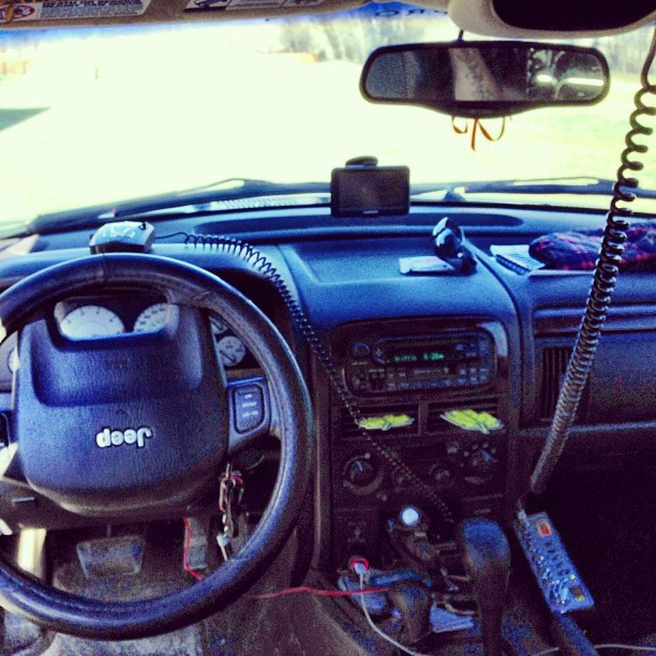 Command center. Cbradio GPS Radardetector Jeep