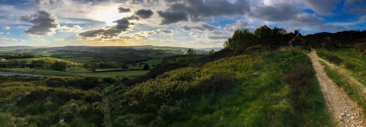 Norland Moor - UK Scenics Cloud - Sky Nature Landscape Beauty In Nature Tranquil Scene No People Field Outdoors Rural Scene Iphone7photography
