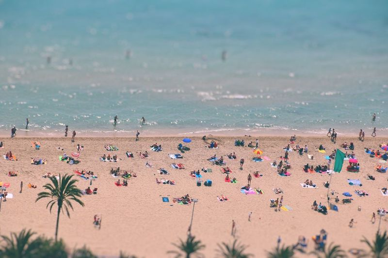 Miniature Beach Sand Sea Large Group Of People Vacations Summer Crowd Low Contrast First Eyeem Photo
