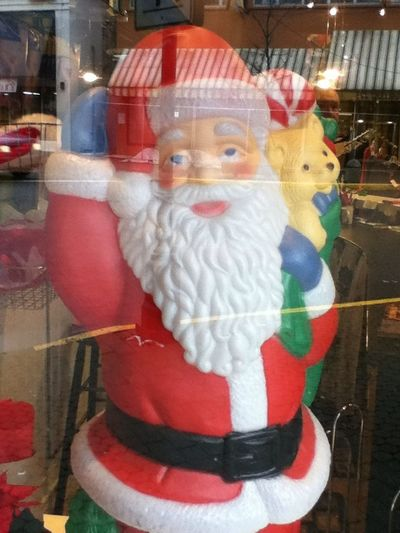 Is it just me or does #Santa look like he's been hitting the eggnog hard and early... #Christmas #humor #holidays #season