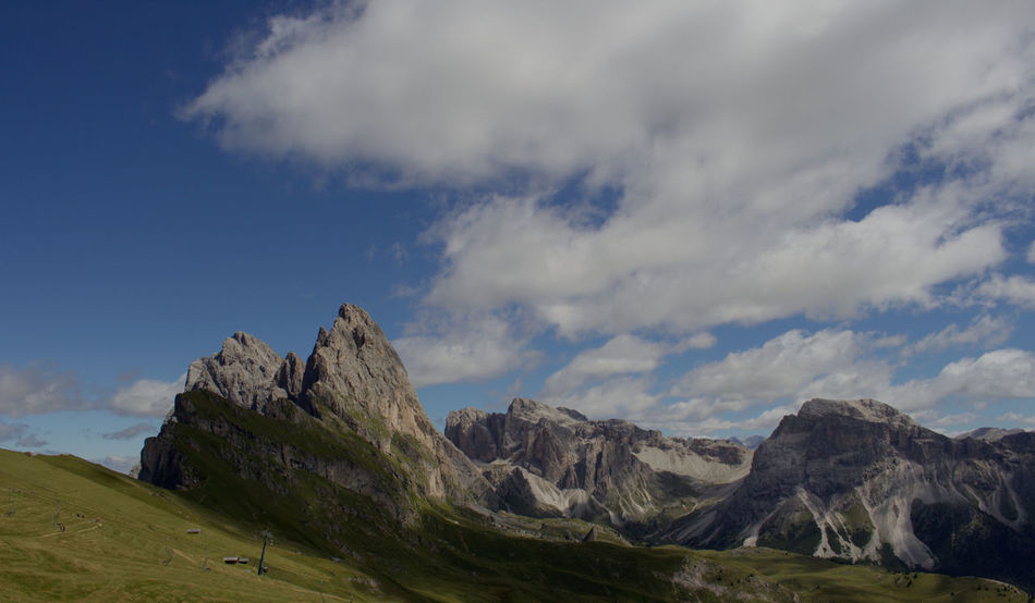 MTB trip with amazing view in Südtirol Alto Adige Amazing View Beauty In Nature Blue Cloud Dolomites, Italy Majestic Mountain Mountain Range Non-urban Scene Outdoors Seceda Sky