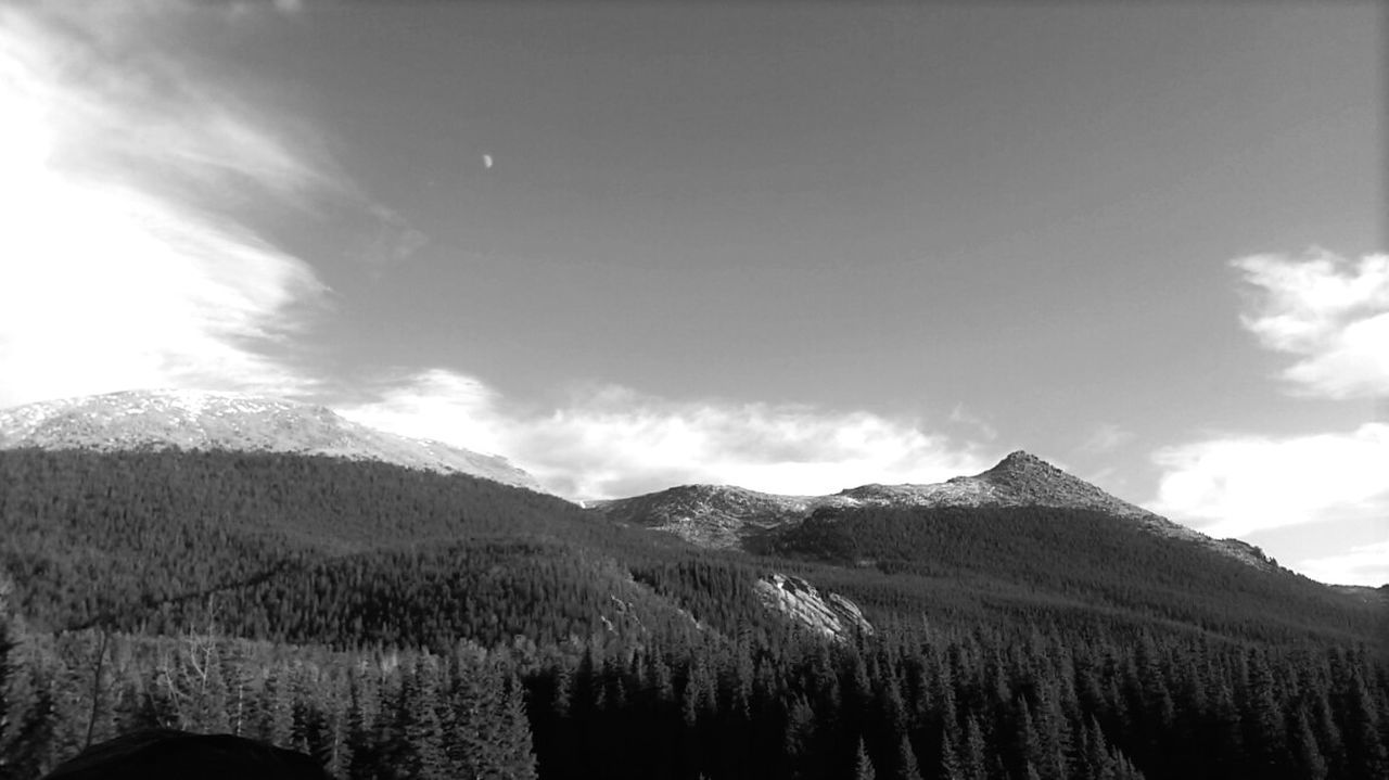 Mountain Landscape Outdoors Sky No People Cloudscape Moon Pikespeak Hiking Colorado Photography Tree