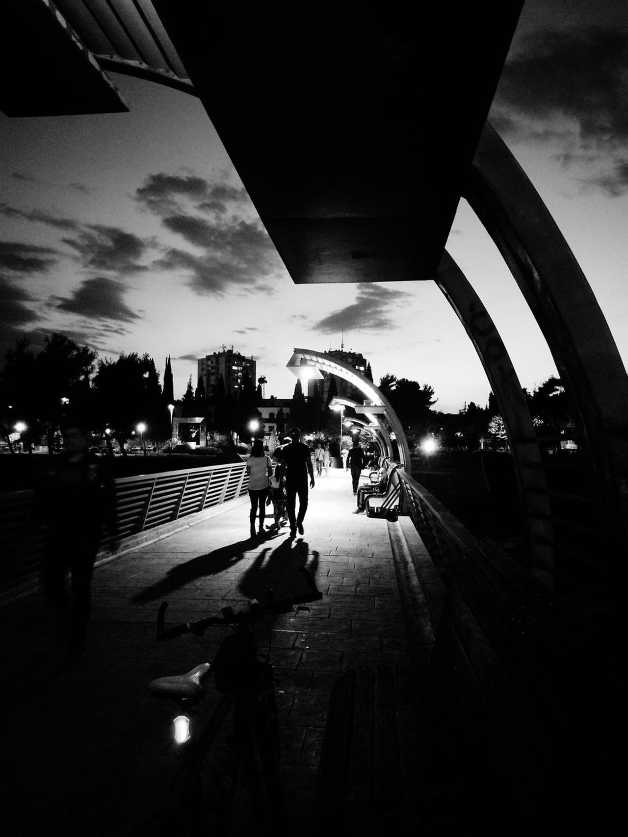 Reflection Sky Cloud - Sky Built Structure Indoors  Architecture Illuminated Cold Temperature City People Ice Hockey Water Hockey Ice Rink Day Bike Low Angle View Sunset Podgorica, Montenegro Montenegro Podgorica Cityscape Landscape Nightshot Cityexplorer The Street Photographer - 2017 EyeEm Awards