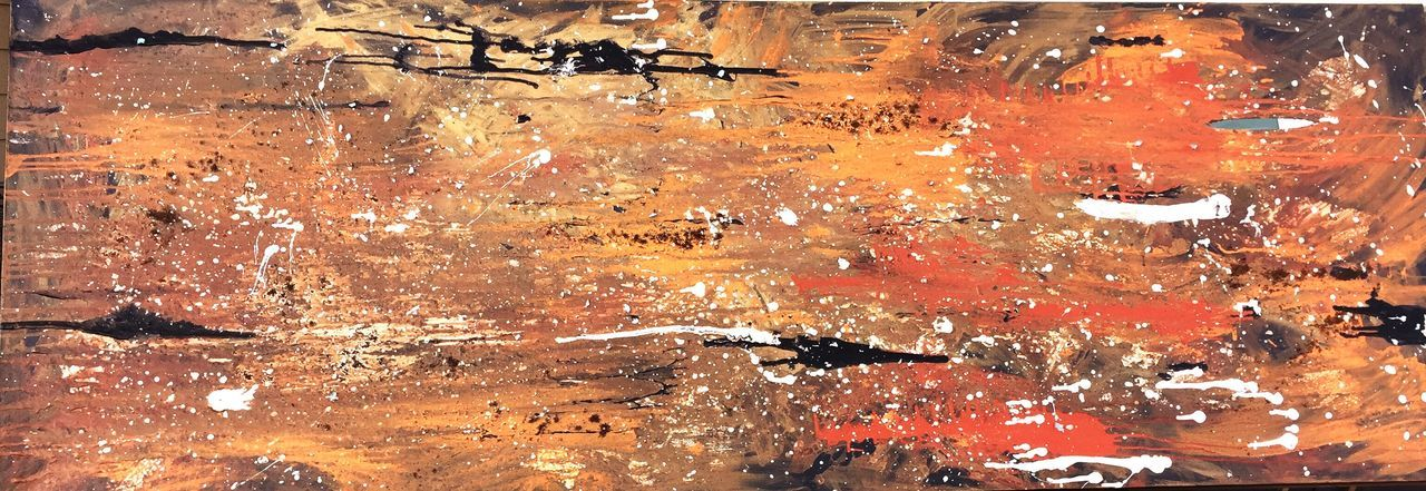 Large Acrylic Canvas Abstract Textured  Creating Painting Art