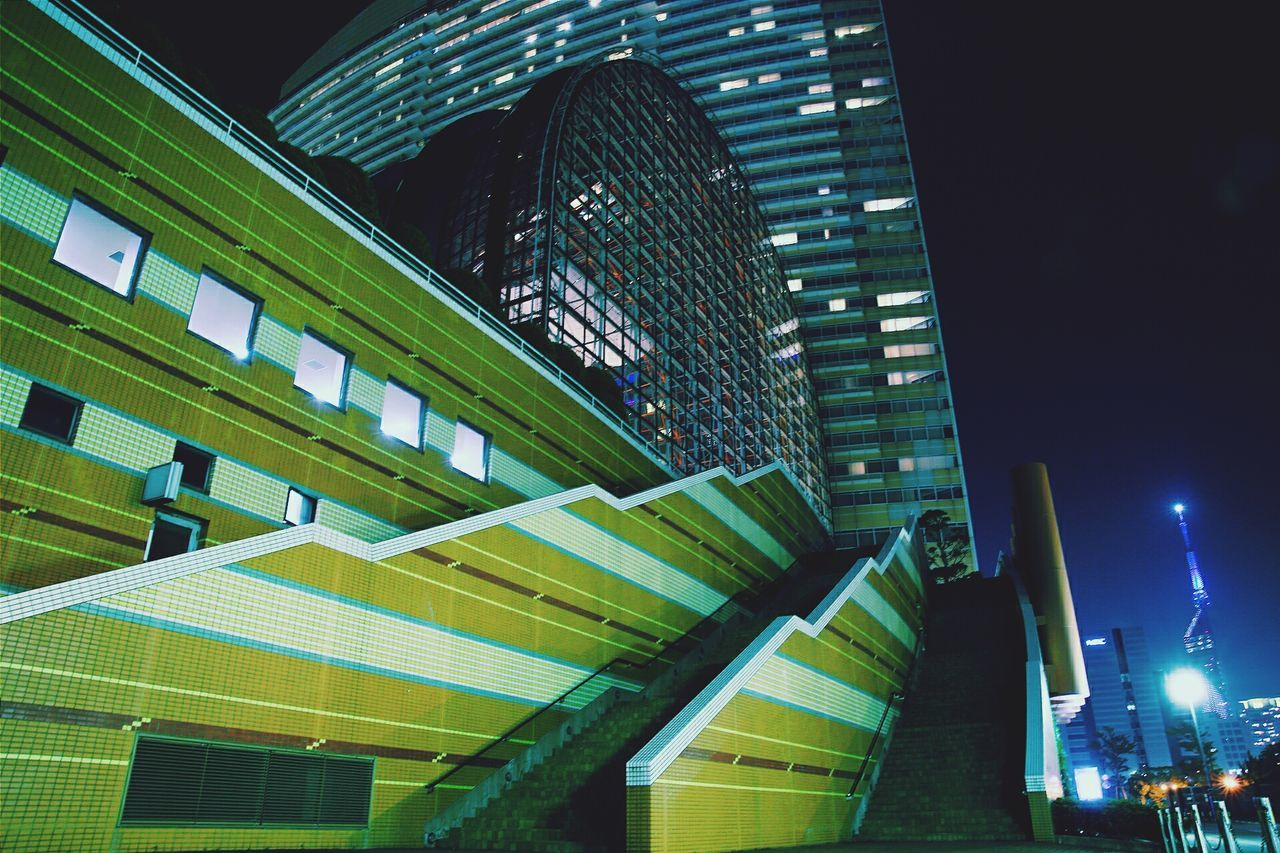 Architecture City Built Structure Skyscraper Illuminated Business Building Exterior Business Finance And Industry Growth Modern Low Angle View No People Night Outdoors 福岡タワー Canon 福岡 Fukuoka,Japan Japan Photography Eos6d Low Angle View