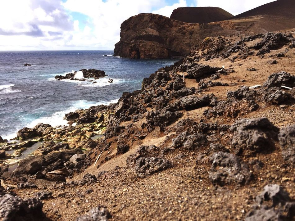 Sea Rock - Object Rock Formation Nature Beach Scenics Travel Destinations Sky Beauty In Nature Horizon Over Water Travel Vacation Tranquility Rocks Azores IPhone Photography Rocky Coastline Outdoors Water Cliff Cloud - Sky No People Landscape Vacations Day