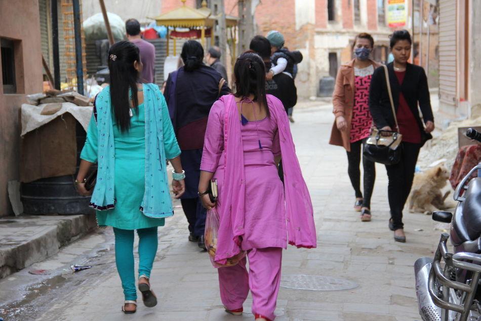 Nepalipeople😊 Beautiful Woman Traditional Clothing Adults Only Street Walking nepal travel