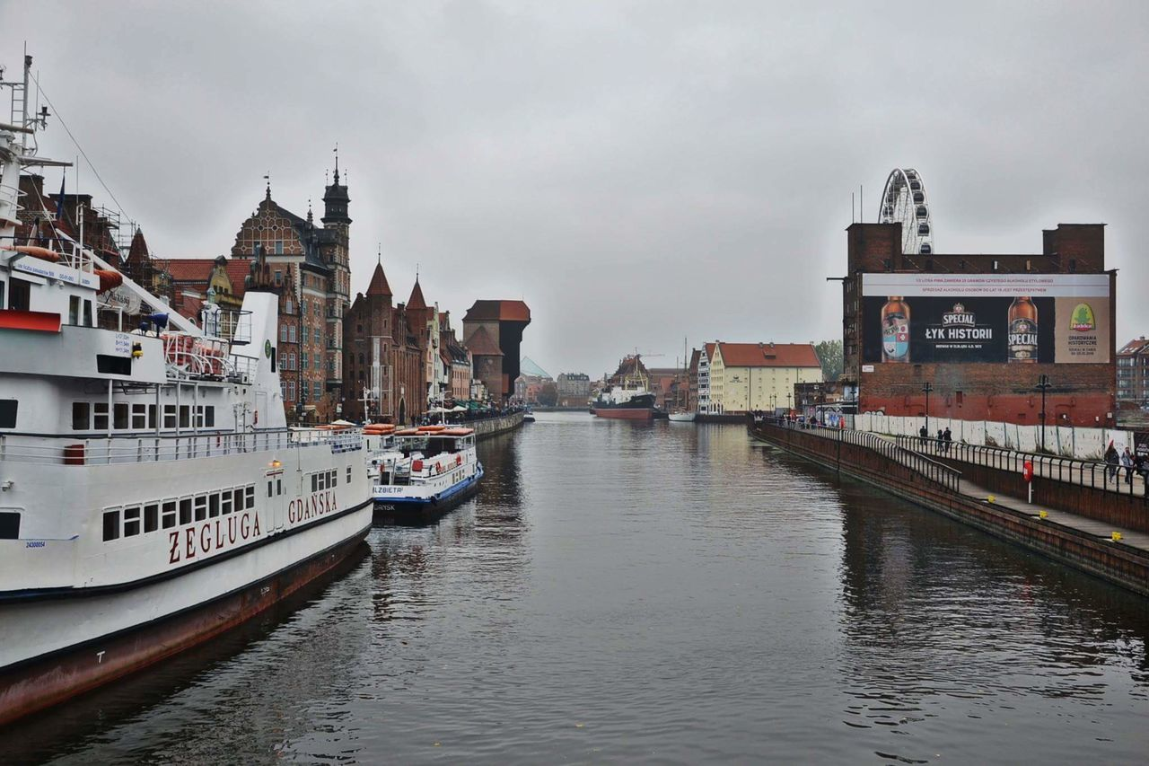 Travel Destinations Bridge - Man Made Structure Cloud - Sky Cityscape Harbor Outdoors Architecture Water Urban Skyline Nautical Vessel City Travel No People Sky Day Gdansk Gdansk (Danzig) Gdansk_official Gdańsk. Gdansk,poland Gdańskeye