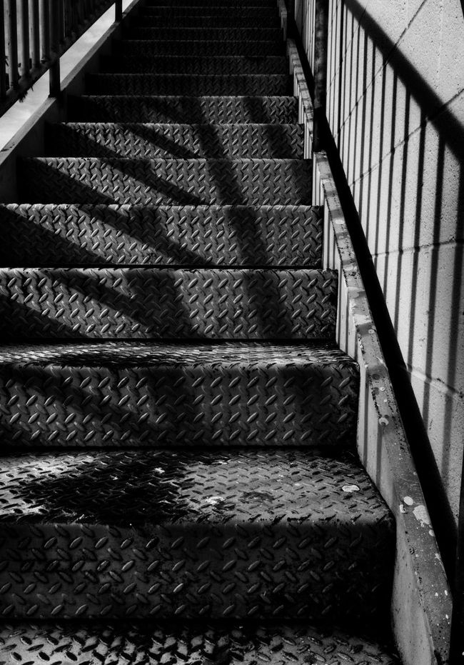 Stairways Blackandwhite Photography Grunge Diamondplate Shadowplay