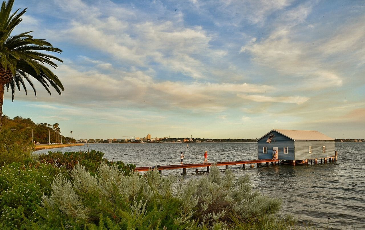 water, built structure, architecture, sky, sea, cloud - sky, outdoors, building exterior, day, nature, tree, no people, horizon over water, beauty in nature