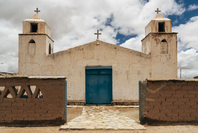 Andes Architecture Argentina Bell Tower Church Closed Door Jujuy Province Place Of Worship Religion Spirituality Tower