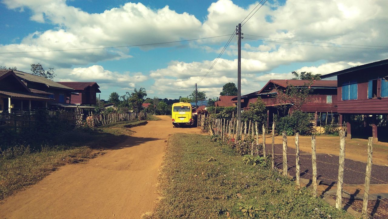 Slowlife in Laos | Village Village Road Laos Slowlife Hello World Chill Mode Vacation Laos 2016 Takemehere Yellow Bus  On The Road Country Road Country Life Countryside Peace And Quiet Peaceful