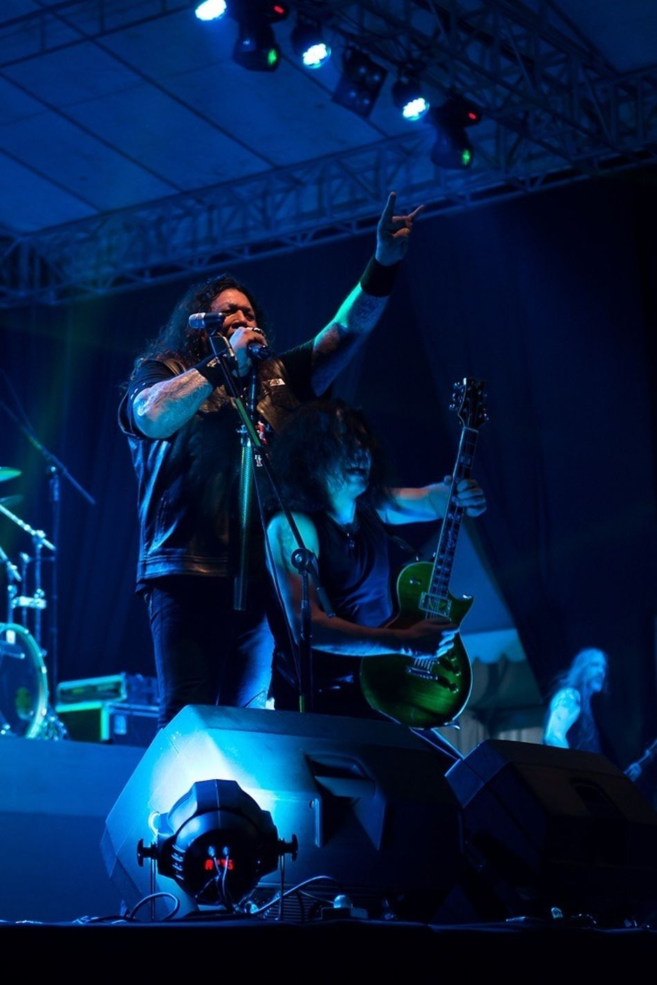 "Kukar Rockin Fest 2014 present ""TESTAMENT"" EyeEm Best Shots Eye4photography Night Lights Enjoying Life"