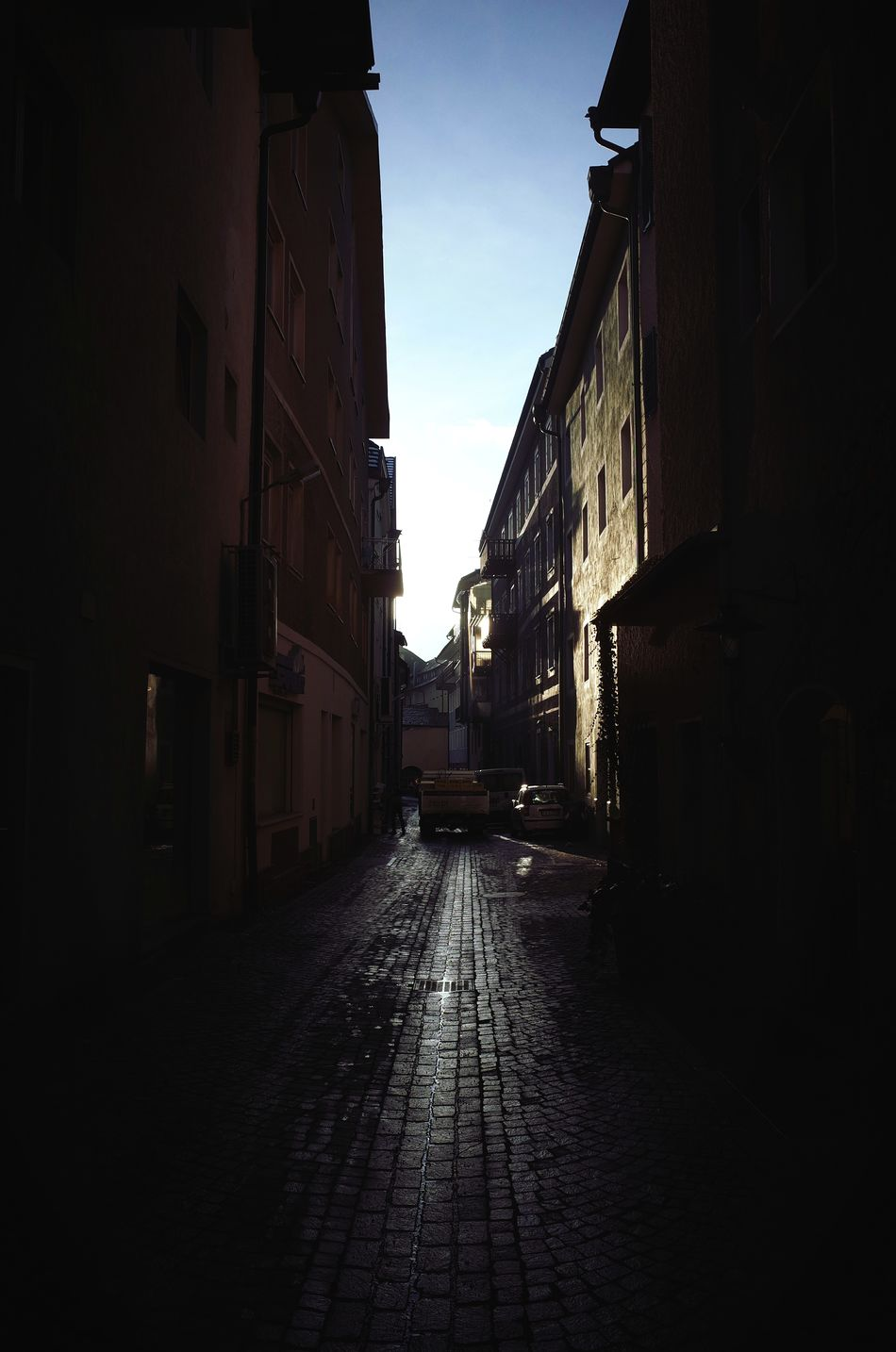 Street City Building Exterior Architecture Built Structure Outdoors Sky No People Day Alley City Street Backstreets & Alleyways Urban Geometry Urban Exploration Urban Landscape City Miles Away Cobblestone Streets Daily Business  City Life Dolomites South Tyrol Südtirol The City Light