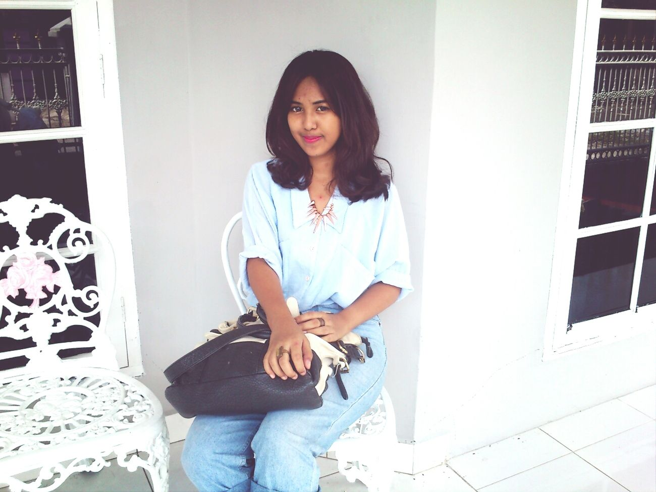Denim kind of the day. Feelingblue