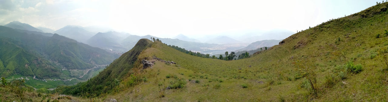 mountain, nature, landscape, beauty in nature, grass, sky, no people, panoramic, outdoors, day