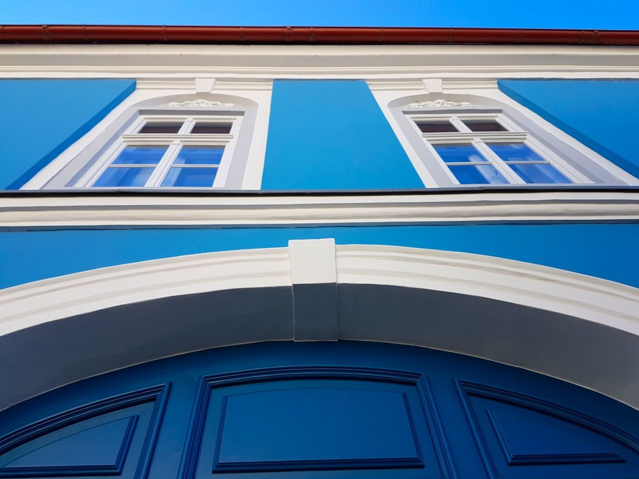 Vác-Hungary Architecture Building Exterior Built Structure Blue Window No People Hungary Vac