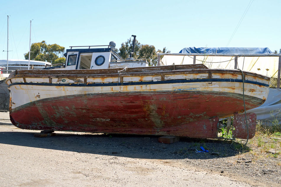 Rust Bucket @ Berkeley Marine Center 1 Antique Trawler Waiting For Restoration Boatyard Boats Fishing TrawlerBoat Repairs And Restoration Custom Yacht Builder Not Quite Ready For Water Marina OCSC Sailing School