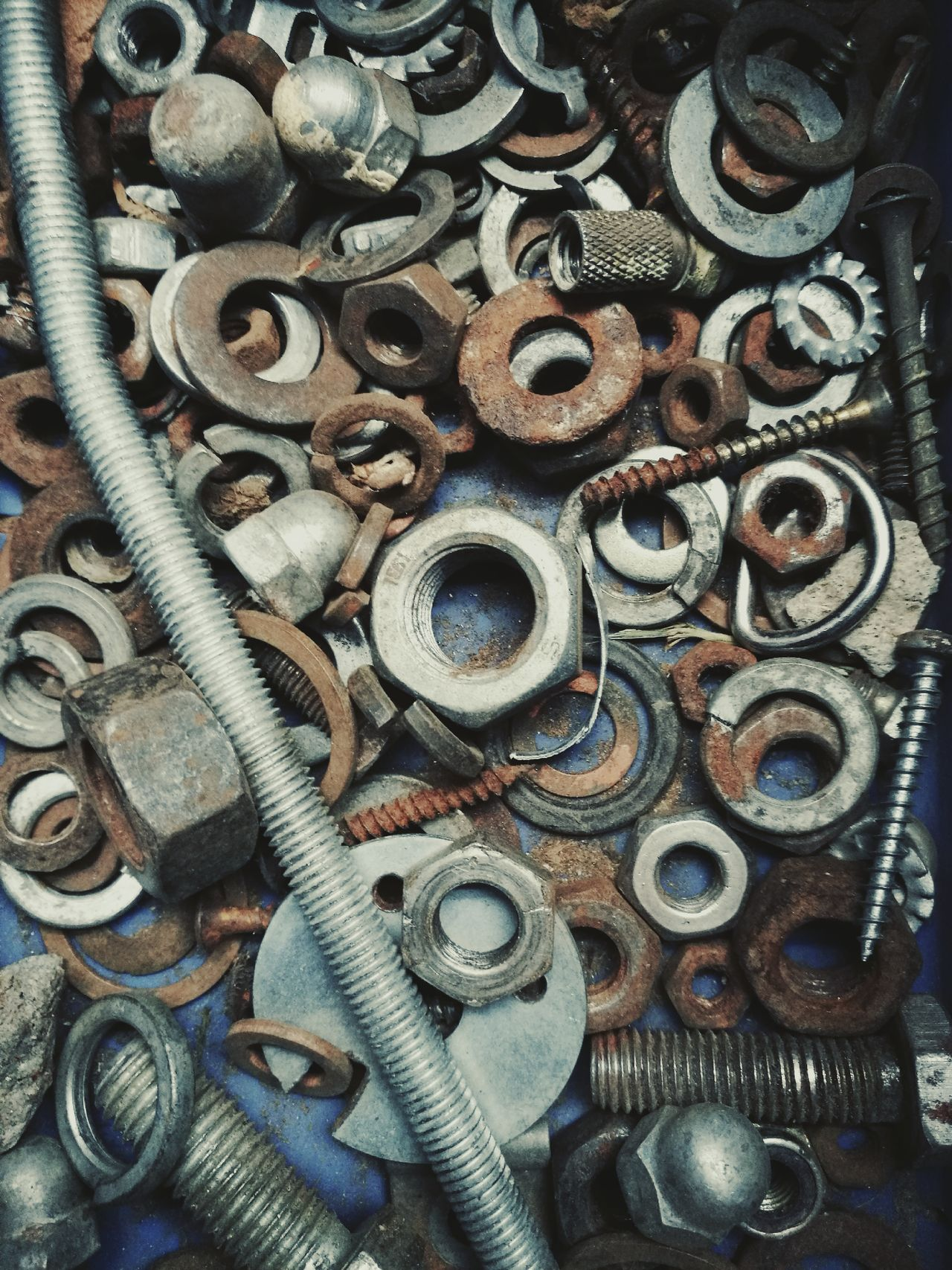 Abundance Arrangement Backgrounds Circle Collection Eye4photography  Eyeem Market EyeEm Masterclass Full Frame Geometric Shape Geometry Hardware Heap HuaweiP9 Iron - Metal Ironmongery Large Group Of Objects Lines, Shapes And Curves Metal Nuts Nuts And Bolts Odds N Ends Screws Tools Wallpaper