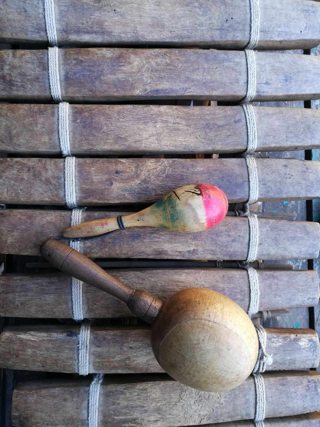 Choice Close-up Day In A Row Multi Colored Musical Instrument No People Outdoors Percussion Percussion Instrument Wood - Material Xylophone