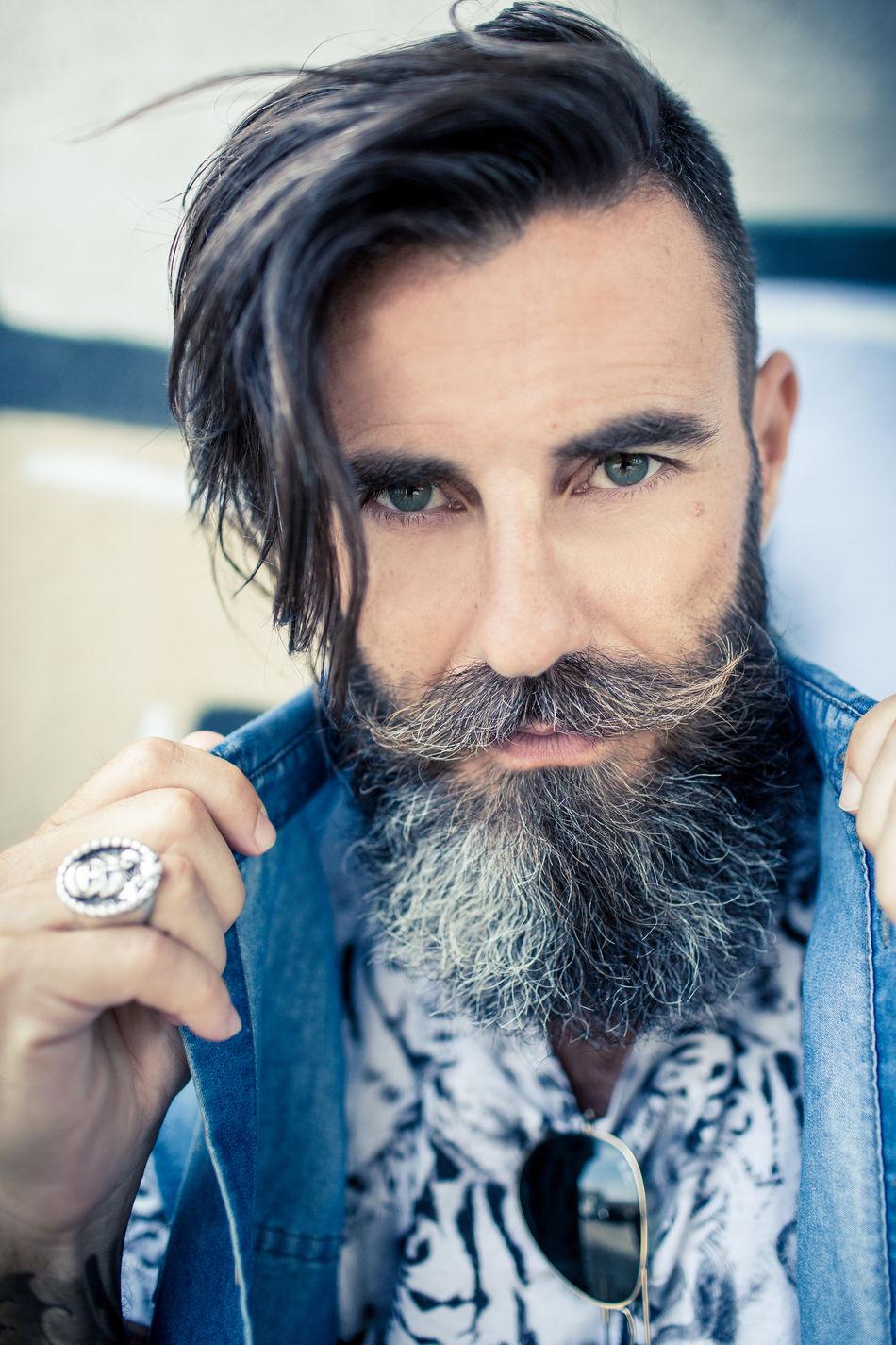 Beautiful stock photos of mustache, 45-49 Years, Attitude, Beard, Casual Clothing