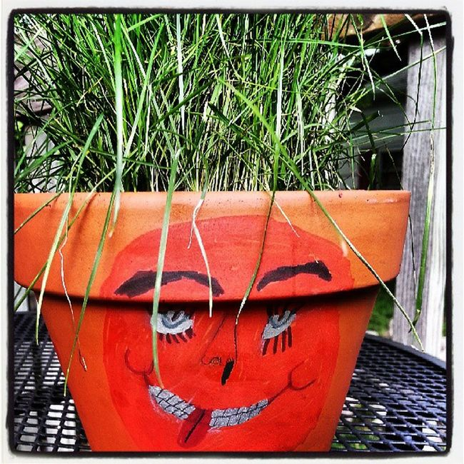Mr. Grass Head Pottery Painting Booger