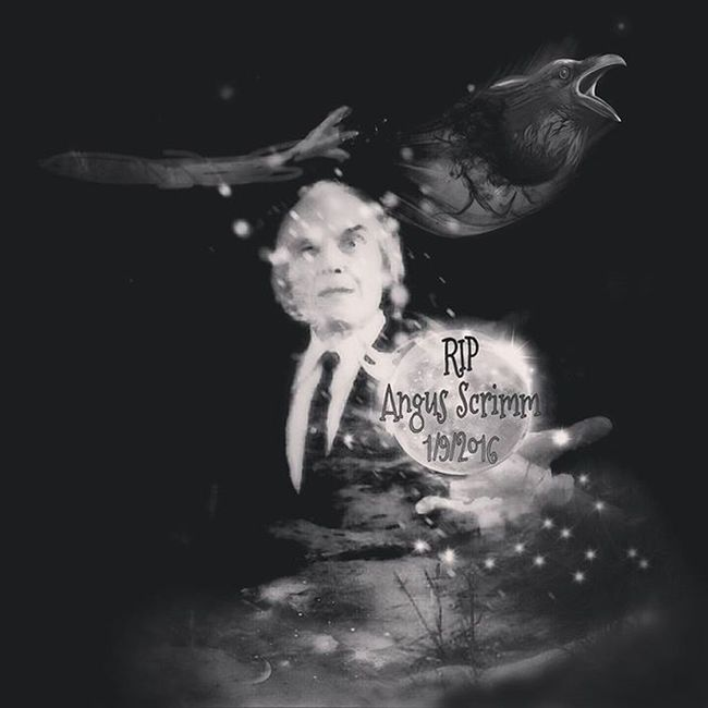 I was so sad to hear of Angus Scrimm. Another one gone this year RIP Angusscrimm Phantasm Digitalart  Collage Darkart Horror Horrorfan Photomanipulation