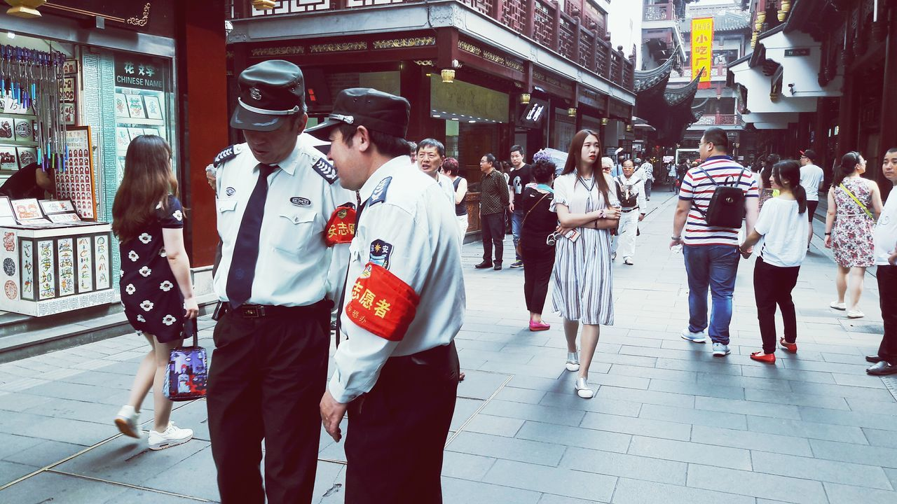 Two Is Better Than One Couples China People Photography Watching People People Together Conversation Shanghai Shanghai Streets Old Town Old Town Shanghai Street Photography Rumors Secrets Travel Photography Traveling Exploring New Ground Exploring China Travel China On The Way People Working Together EyeEm Best Shots EyeEm Best Edits Eyeemphotography Uniform The Street Photographer - 2017 EyeEm Awards