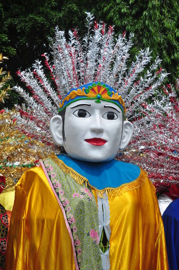 Ondel-ondel, the traditional puppets from Jakarta, Indonesia. Celebration Event INDONESIA Jakarta Puppet Show Puppets Tradition Betawi Big Puppets Close-up Colorful Day Entertainment Festival Like Human Multi Colored Outdoor Outdoors Streetphotography