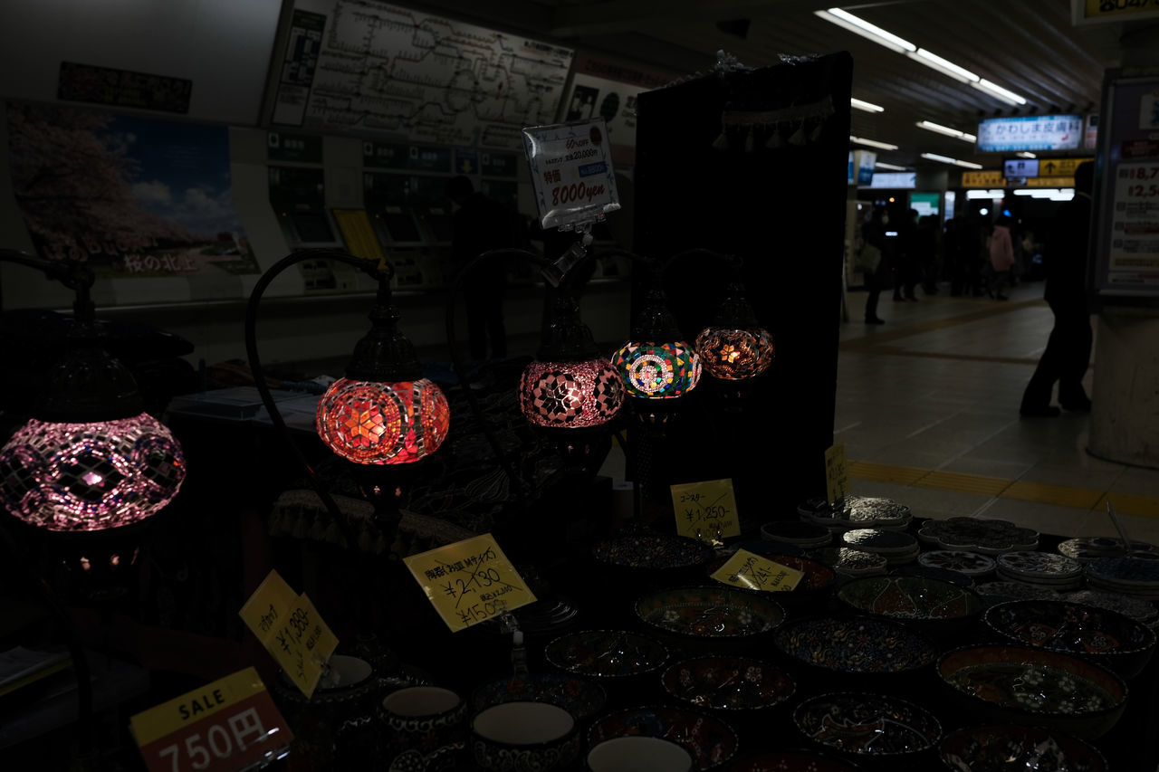For Sale Fujifilm FUJIFILM X-T2 Fujifilm_xseries Hanging Illuminated Indoors  Japan Japan Photography Lamp Large Group Of Objects Night Price Tag Retail  Station Store Text Turkish Lamp X-t2 ランプ