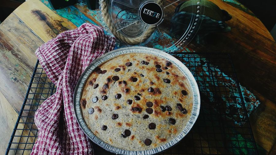 Softybanana cake Bykekze Chocolatechip Sugar Free Perfect Dessert Lowcarbdiet Gluten Free High Angle View Table Food Food And Drink Indoors  No People Freshness Ready-to-eat Day