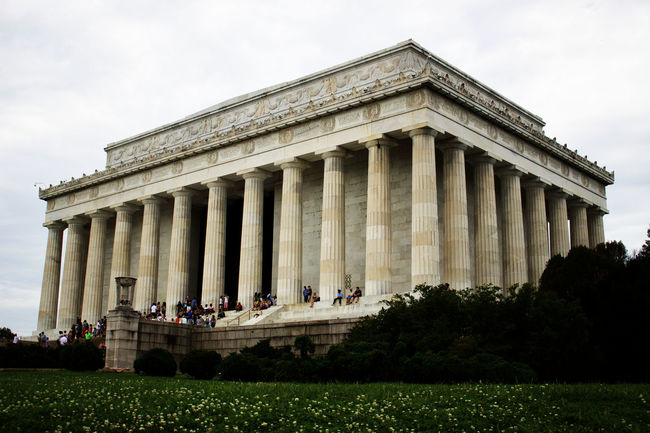 The Lincoln Memorial Architecture Canon Sl1 Canonphotography Capital Clouds Column Famous Place History Lincoln Memorial Outdoors Overcast Washington DC