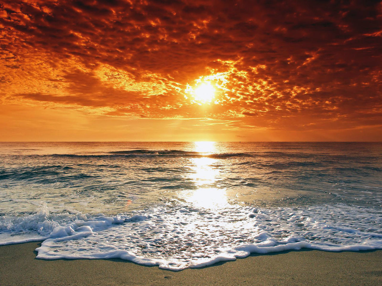 Summer view. Beach Beauty In Nature Cloud - Sky Horizon Over Water Live For The Story Nature No People Orange Color Outdoors Reflection Sand Scenics Sea Sky Summer Summer Views Sun Sunlight Sunset Tranquil Scene Tranquility Water Wave