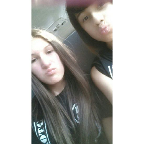 Me &my good friend Maria during JROTC (: Late Upload Friends