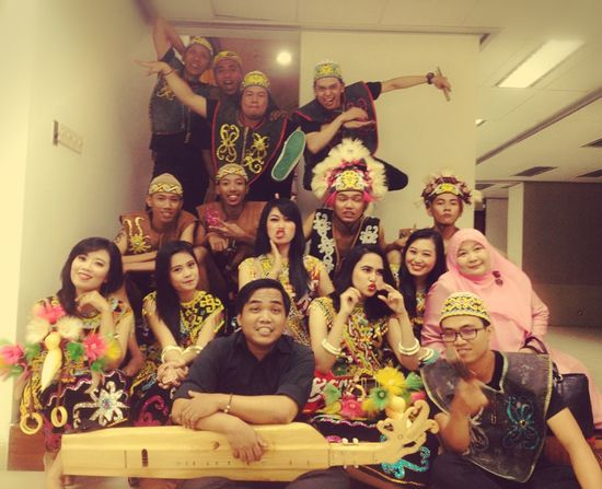 after perform Eksotika Borneo - Dayak's Culture - Traditional Dance - Sampe Balikpapan INDONESIA A&R Studio Awesome Performance