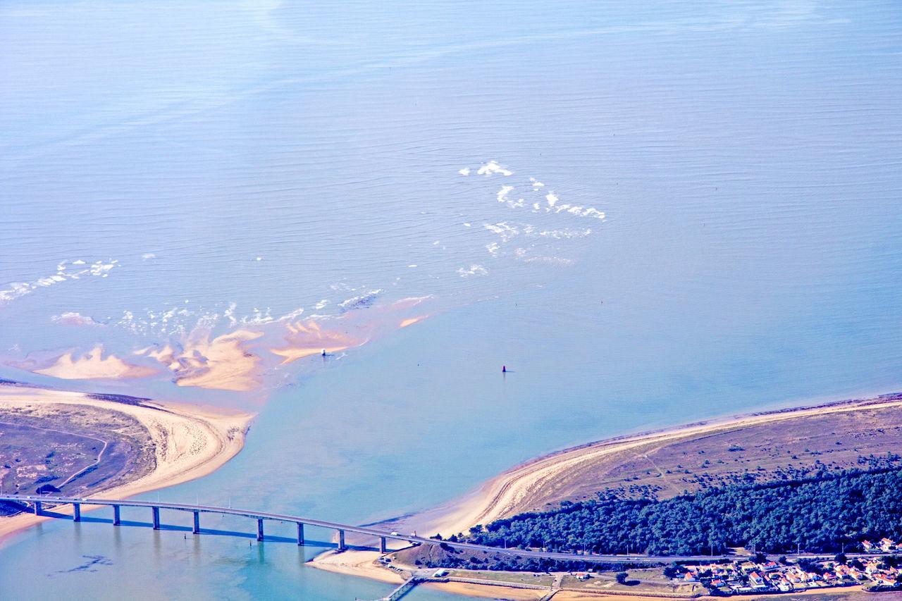 Atlantic Ocean Loire Marais Aerial View Avion Bridge Brouillard Cielo Noiremoutiers Nuage Pornichet Saint Nazaire Yeu Island