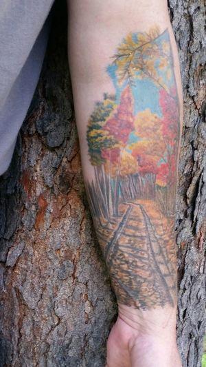 Tattoo Life Close-up Forearm Tattoo Fall Tattoo Outdoors Beauty In Nature Nature Tattoo