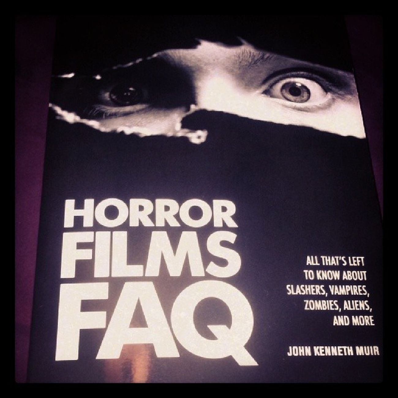 Pretty stoked on this. Not just another book giving synopses of movies. Horrorhound Gorehound Mypassion Cultflicks