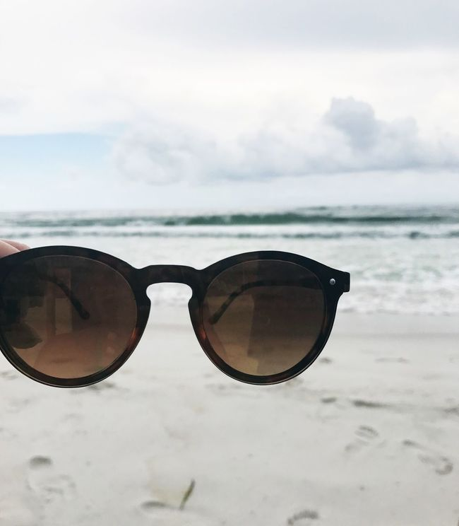Sunglasses Sky Eyewear Vision Sea Protection Cloud - Sky Day Beach Water Outdoors No People Sand Nature Horizon Over Water Beauty In Nature Close-up