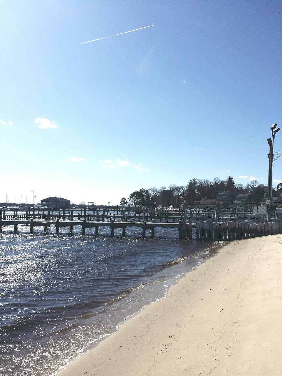Piers On Beach