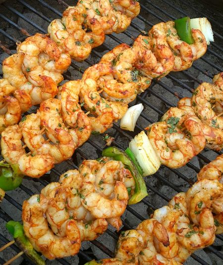 Grilled Food And Drink Food Freshness Meat Barbecue Grill Preparation  No People High Angle View Seafood Barbecue Healthy Eating Outdoors Day Temptation Ready-to-eat Close-up Floridalifestyle JumboShrimp Food Stories