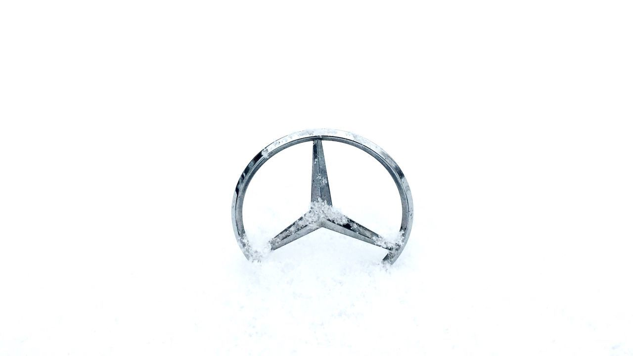 Dude Where Is My Car a different classic movie 😂 Mercedes Mercedes-Benz Snow White Background Studio Shot Single Object Ring No People Close-up Day Winter Car Hood Ornament Humor Taking Photos Eyeemphotography EyeEm Nature Lover Classic Movie Theme