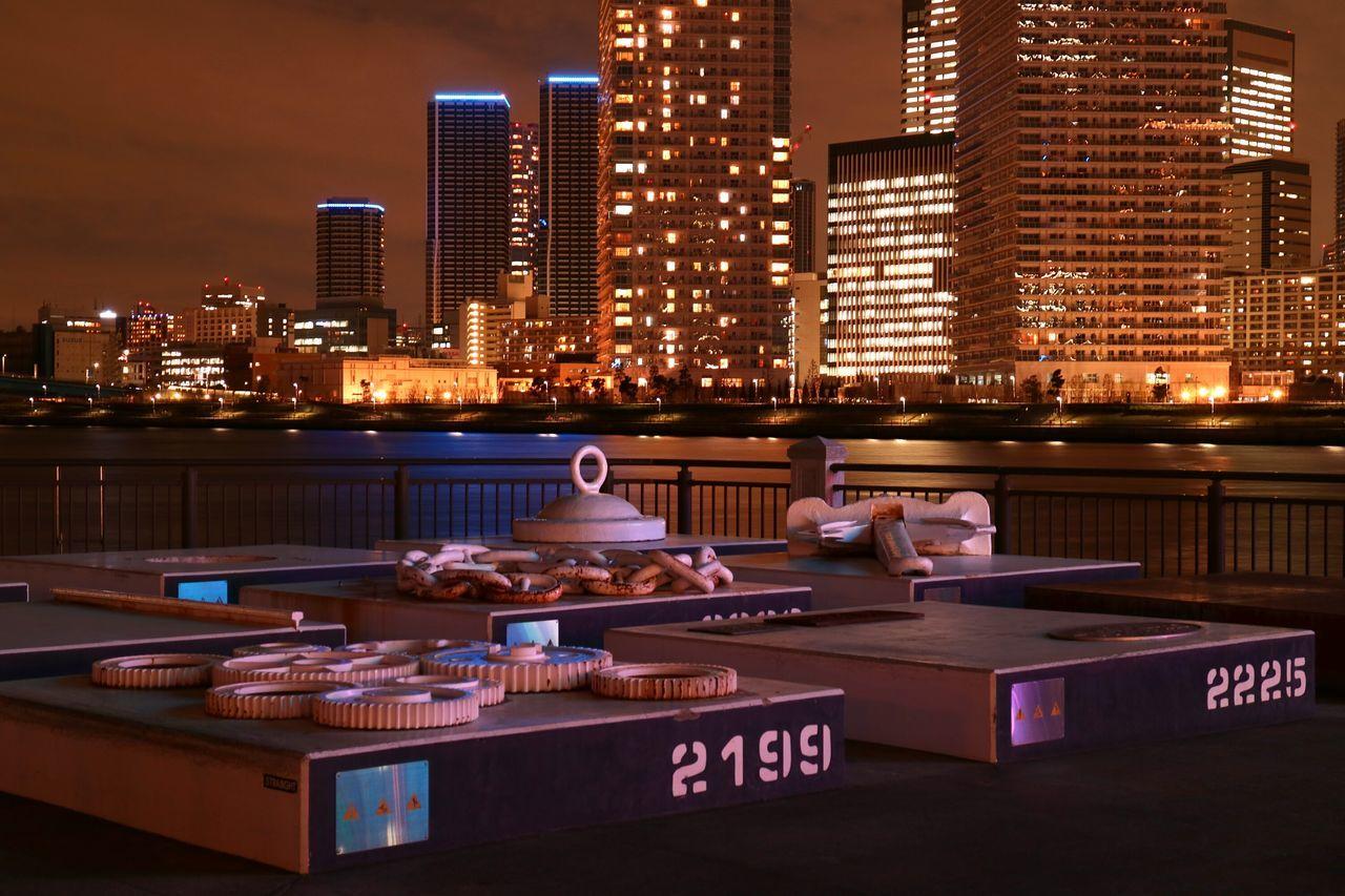 Tokyo Bay Sea Building Sky City Japan ArtWork Sunset Sunsets Cityscape Toyosu