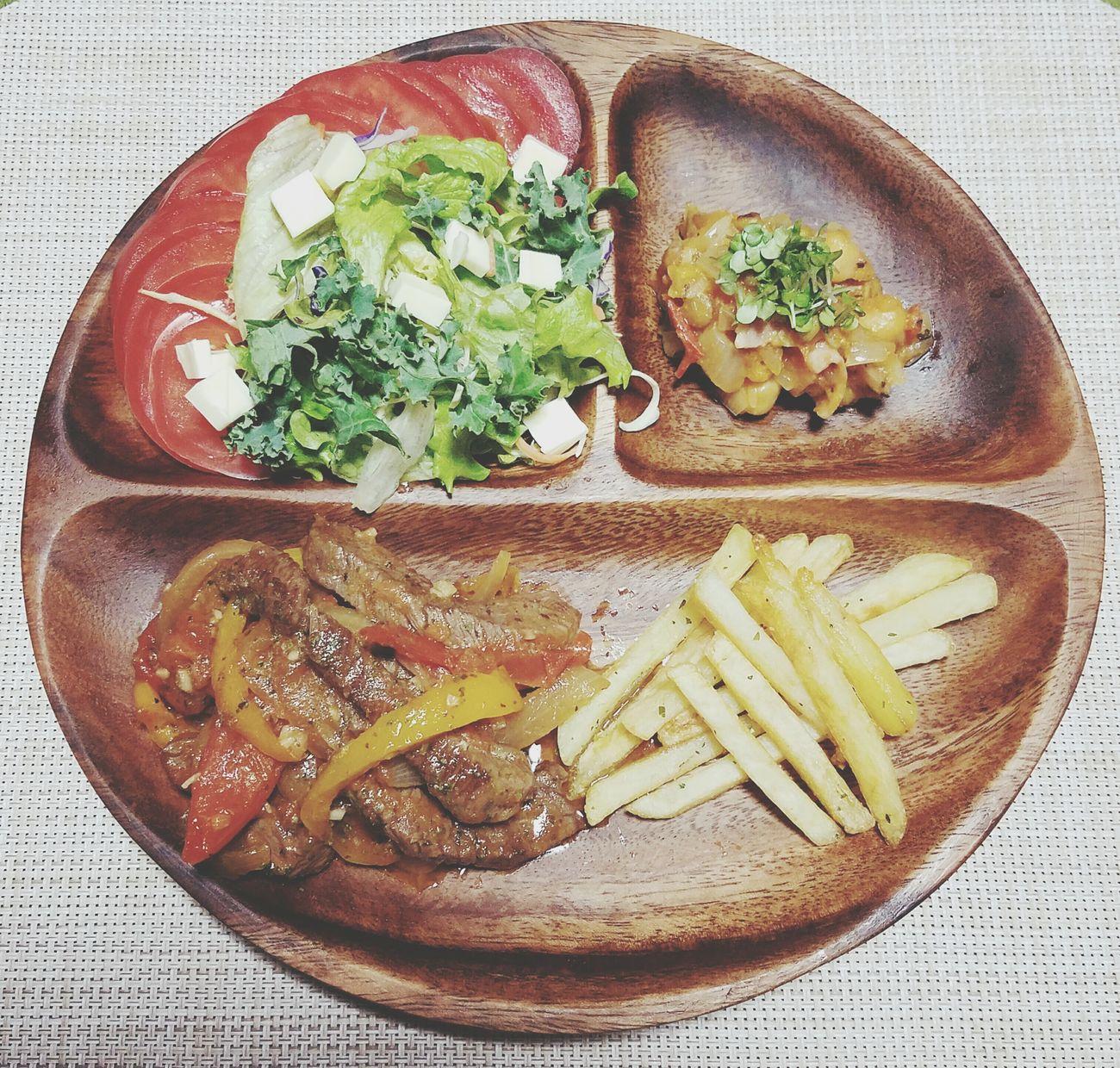 痩せなきゃ👏痩せなきゃ👏       でも食べたい😂          Food Meat Lomo Saltado Frijol Frijole Plate