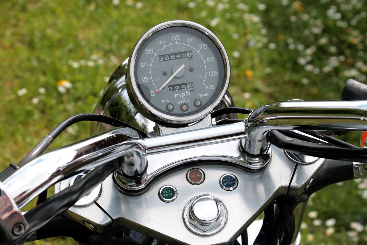 Beautiful stock photos of motorcycle, Close-Up, Day, Focus On Foreground, Gauge