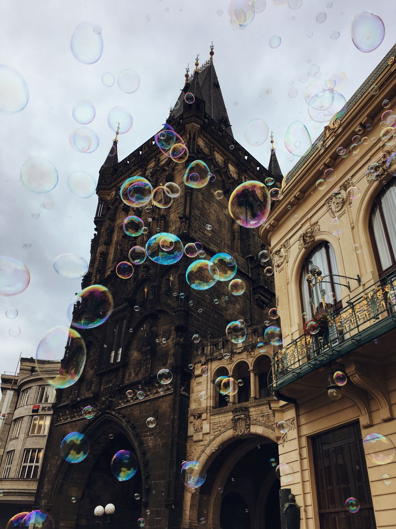 No matter how old I get, bubble will always be as amazing as the first time I saw them Architecture Built Structure Low Angle View Building Exterior Religion Place Of Worship Sky Spirituality No People Day Rose Window Outdoors Bubbles Colour Colour Of Life