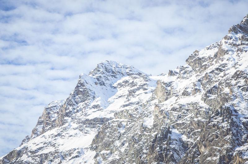 snowcapped mountains - bernina range engadine swiss alps Bernina Range Wintertime Beauty In Nature Close-up Cold Temperature Day Engadine Switzerland Engadinerdorf Height High Landscape Mountain Nature No People Outdoors Scenery Sky Snow Swiss Alps Winter