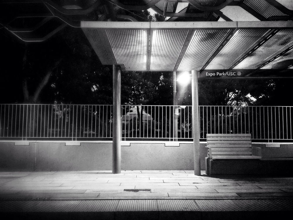 blackandwhite at Expo Park / USC Station by RyanV