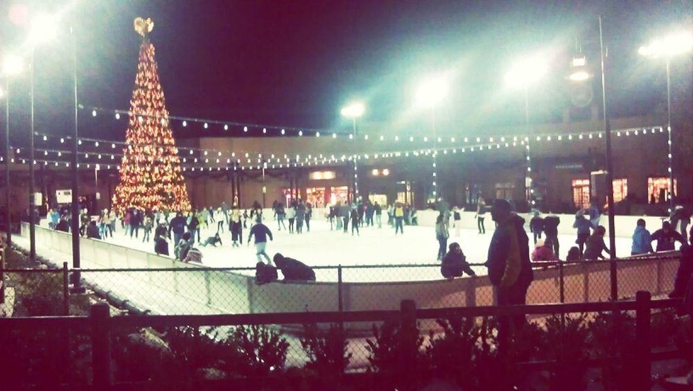 went ice skating at Viejas